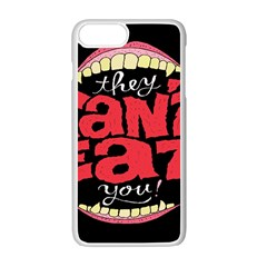 Cant Eat Apple Iphone 7 Plus White Seamless Case by AnjaniArt