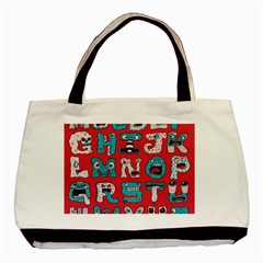 Alpha Monsters Basic Tote Bag (two Sides)