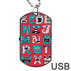 Alpha Monsters Dog Tag Usb Flash (one Side) by AnjaniArt