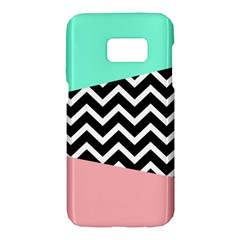 Chevron Green Black Pink Samsung Galaxy S7 Hardshell Case