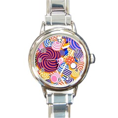 Canddy Color Round Italian Charm Watch