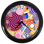 Canddy Color Wall Clocks (Black) Front