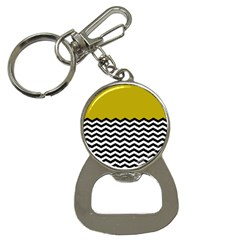 Colorblock Chevron Pattern Mustard Button Necklaces