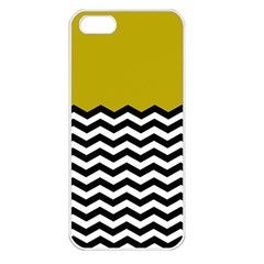 Colorblock Chevron Pattern Mustard Apple Iphone 5 Seamless Case (white) by AnjaniArt