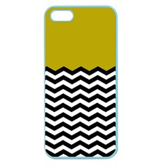 Colorblock Chevron Pattern Mustard Apple Seamless Iphone 5 Case (color) by AnjaniArt