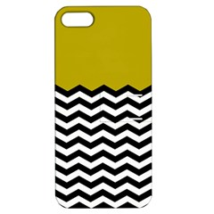 Colorblock Chevron Pattern Mustard Apple Iphone 5 Hardshell Case With Stand by AnjaniArt