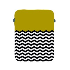 Colorblock Chevron Pattern Mustard Apple Ipad 2/3/4 Protective Soft Cases