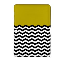 Colorblock Chevron Pattern Mustard Samsung Galaxy Tab 2 (10 1 ) P5100 Hardshell Case  by AnjaniArt