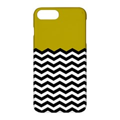 Colorblock Chevron Pattern Mustard Apple Iphone 7 Plus Hardshell Case by AnjaniArt