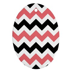 Chevron Crazy On Pinterest Blue Color Oval Ornament (two Sides)