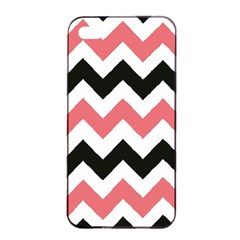 Chevron Crazy On Pinterest Blue Color Apple Iphone 4/4s Seamless Case (black) by AnjaniArt