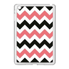 Chevron Crazy On Pinterest Blue Color Apple Ipad Mini Case (white) by AnjaniArt