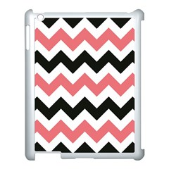 Chevron Crazy On Pinterest Blue Color Apple Ipad 3/4 Case (white) by AnjaniArt