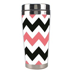 Chevron Crazy On Pinterest Blue Color Stainless Steel Travel Tumblers by AnjaniArt