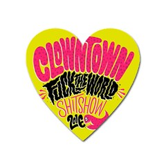 Clowntown Heart Magnet