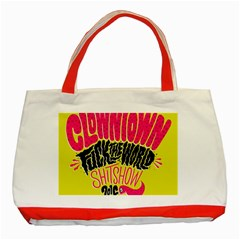 Clowntown Classic Tote Bag (red) by AnjaniArt