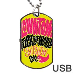 Clowntown Dog Tag Usb Flash (one Side) by AnjaniArt