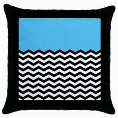 Color Block Jpeg Throw Pillow Case (black) by AnjaniArt