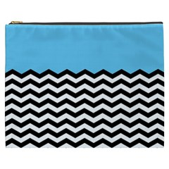 Color Block Jpeg Cosmetic Bag (xxxl)  by AnjaniArt