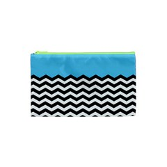 Color Block Jpeg Cosmetic Bag (xs)