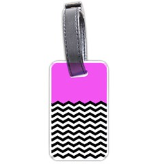 Colorblock Chevron Pattern Jpeg Luggage Tags (one Side)