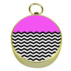 Colorblock Chevron Pattern Jpeg Gold Compasses by AnjaniArt