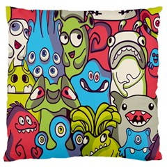 Colourful Monster Flooring Standard Flano Cushion Case (two Sides)