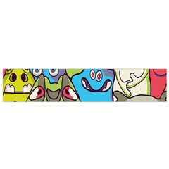 Colourful Monster Flooring Flano Scarf (small) by AnjaniArt