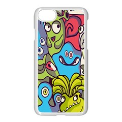 Colourful Monster Flooring Apple Iphone 7 Seamless Case (white) by AnjaniArt