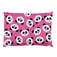 Cute Panda Pink Pillow Case (two Sides) by AnjaniArt