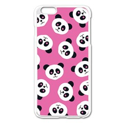 Cute Panda Pink Apple Iphone 6 Plus/6s Plus Enamel White Case