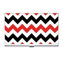 Colored Chevron Printable Business Card Holders