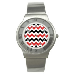 Colored Chevron Printable Stainless Steel Watch