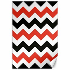 Colored Chevron Printable Canvas 24  X 36  by AnjaniArt