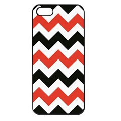 Colored Chevron Printable Apple Iphone 5 Seamless Case (black)