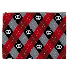 Cute Scull Cosmetic Bag (xxl)  by AnjaniArt