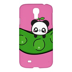 Edamame Panda Pink Cute Animals Samsung Galaxy S4 I9500/i9505 Hardshell Case by AnjaniArt