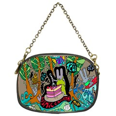 Cosmic Candy Monster Chain Purses (one Side)  by AnjaniArt