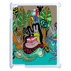 Cosmic Candy Monster Apple Ipad 2 Case (white)