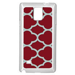 Flower Red Light Blue Samsung Galaxy Note 4 Case (white)