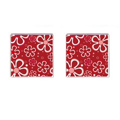 Flower Red Cute Cufflinks (square)