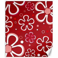 Flower Red Cute Canvas 20  X 24