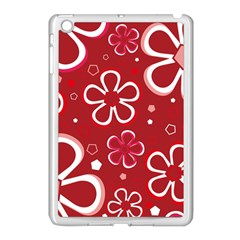 Flower Red Cute Apple Ipad Mini Case (white) by AnjaniArt