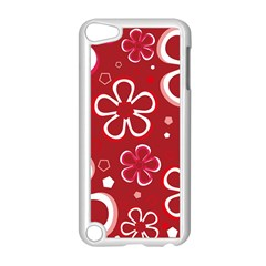 Flower Red Cute Apple Ipod Touch 5 Case (white)