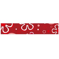 Flower Red Cute Flano Scarf (large) by AnjaniArt