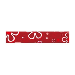 Flower Red Cute Flano Scarf (mini) by AnjaniArt