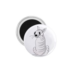 White Cat  1 75  Magnets