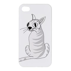 White Cat  Apple Iphone 4/4s Premium Hardshell Case