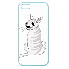 White Cat  Apple Seamless Iphone 5 Case (color) by Valentinaart