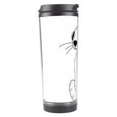 White Cat  Travel Tumbler by Valentinaart